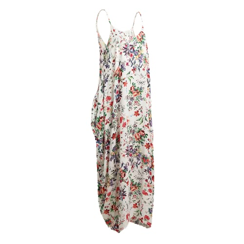 Sexy Women Boho Floral Print Dress Spaghetti Strap Bohemian Beach Dress Loose Long Maxi Plus Size DressApparel &amp; Jewelry<br>Sexy Women Boho Floral Print Dress Spaghetti Strap Bohemian Beach Dress Loose Long Maxi Plus Size Dress<br>