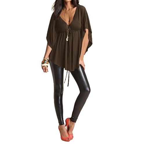 New Fashion Women Blouse Sexy V Neck Batwing Sleeve Solid Loose Casual Tee Shirt TopsApparel &amp; Jewelry<br>New Fashion Women Blouse Sexy V Neck Batwing Sleeve Solid Loose Casual Tee Shirt Tops<br>