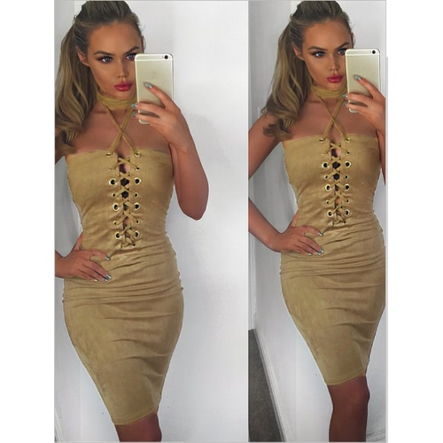 Sexy Women Summer Off Shoulder Dress Halter Crisscross Bandage Bodycon Mini Tube Dress Party ClubwearApparel &amp; Jewelry<br>Sexy Women Summer Off Shoulder Dress Halter Crisscross Bandage Bodycon Mini Tube Dress Party Clubwear<br>