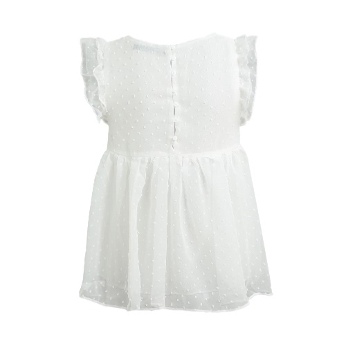 New Sweet Shirt Floral Embroidery Pleated Ruffled Cute Sleeveless Vintage Summer Blouse Tops WhiteApparel &amp; Jewelry<br>New Sweet Shirt Floral Embroidery Pleated Ruffled Cute Sleeveless Vintage Summer Blouse Tops White<br>
