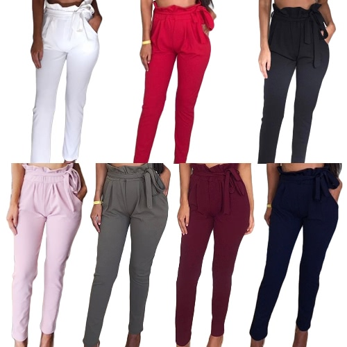 Women OL High Waist Harem Pants Summer Solid Color Pockets Causal Tights TrousersApparel &amp; Jewelry<br>Women OL High Waist Harem Pants Summer Solid Color Pockets Causal Tights Trousers<br>
