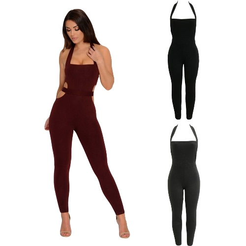 New Sexy Women Jumpsuit Bodysuit Halter Cut Out Bodycon Nightclub Party Sleeveless Playsuit RompersApparel &amp; Jewelry<br>New Sexy Women Jumpsuit Bodysuit Halter Cut Out Bodycon Nightclub Party Sleeveless Playsuit Rompers<br>
