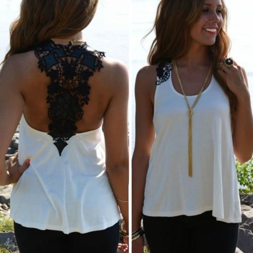 Women Summer Top Casual Sleeveless Vest Shirt Tank Crochet Lace T ShirtApparel &amp; Jewelry<br>Women Summer Top Casual Sleeveless Vest Shirt Tank Crochet Lace T Shirt<br>