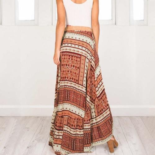 Boho Women Skirt Geometric Pattern Print Asymmetric High Waist Long Casual Beach Holiday WearApparel &amp; Jewelry<br>Boho Women Skirt Geometric Pattern Print Asymmetric High Waist Long Casual Beach Holiday Wear<br>