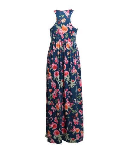 New Women Sexy Floral Print Dress Sleeveless Racerback Tunic Maxi Beach Long Loose DressApparel &amp; Jewelry<br>New Women Sexy Floral Print Dress Sleeveless Racerback Tunic Maxi Beach Long Loose Dress<br>