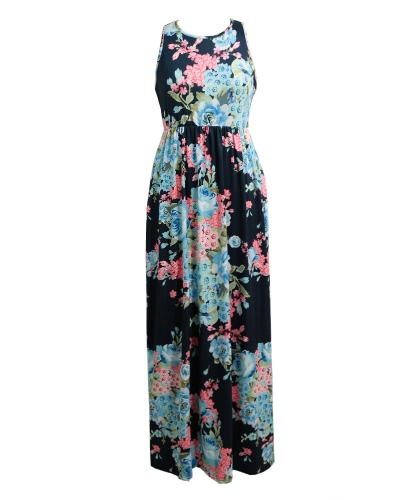 New Women Sexy Floral Print Dress Sleeveless Racerback Tunic Maxi Beach Long Loose DressApparel &amp; Jewelry<br>New Women Sexy Floral Print Dress Sleeveless Racerback Tunic Maxi Beach Long Loose Dress<br>