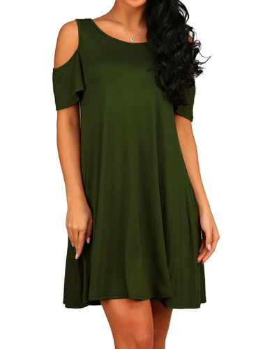 New Women Casual Blouse Tops Ladies Sexy Tunic Off Shoulder Short Sleeve Pockets Loose T-Shirt Swing Dress Black/Grey/GreenApparel &amp; Jewelry<br>New Women Casual Blouse Tops Ladies Sexy Tunic Off Shoulder Short Sleeve Pockets Loose T-Shirt Swing Dress Black/Grey/Green<br>