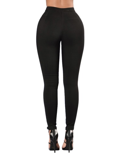 Women Lace Up Pants Hollow Out High Waist Hole Ripped Skinny Pants Pencil Trousers Bandage PantsApparel &amp; Jewelry<br>Women Lace Up Pants Hollow Out High Waist Hole Ripped Skinny Pants Pencil Trousers Bandage Pants<br>