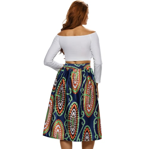 Sexy Women Pleated Skirt Vintage Floral Print High Waist A-Line Midi Skater SkirtApparel &amp; Jewelry<br>Sexy Women Pleated Skirt Vintage Floral Print High Waist A-Line Midi Skater Skirt<br>