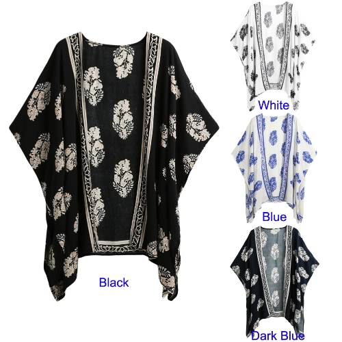 New Women Summer Kimono Cardigan Bikini Cover Up Floral Beach Robe Kaftan Boho Blouse Top BeachwearApparel &amp; Jewelry<br>New Women Summer Kimono Cardigan Bikini Cover Up Floral Beach Robe Kaftan Boho Blouse Top Beachwear<br>
