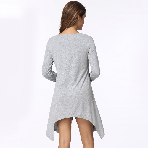 Sexy Women Asymmetric T-Shirt Criss Cross V Neck Long Sleeves Blouse Solid Loose Casual Tunic Top Black/Grey/Army GreenApparel &amp; Jewelry<br>Sexy Women Asymmetric T-Shirt Criss Cross V Neck Long Sleeves Blouse Solid Loose Casual Tunic Top Black/Grey/Army Green<br>
