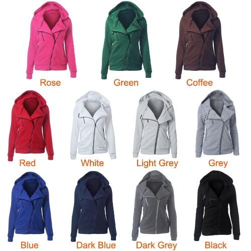 New Women Hoodies Sweatshirt Autumn Winter Long Sleeve Zipper Hooded Coat Outerwear Warm Tracksuit StreetwearApparel &amp; Jewelry<br>New Women Hoodies Sweatshirt Autumn Winter Long Sleeve Zipper Hooded Coat Outerwear Warm Tracksuit Streetwear<br>