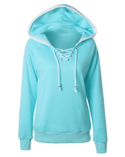 Women Hoodie Hooded Sweatershirt Fleece Raglan Long SleevesApparel &amp; Jewelry<br>Women Hoodie Hooded Sweatershirt Fleece Raglan Long Sleeves<br>