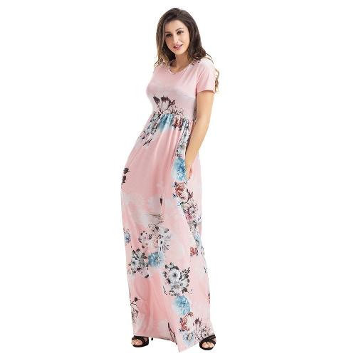 Vintage Women Maxi Dress Bohemian Floral Flower Print Pocket Design Boho Long DressesApparel &amp; Jewelry<br>Vintage Women Maxi Dress Bohemian Floral Flower Print Pocket Design Boho Long Dresses<br>