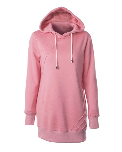 Fashion Women Long Hooded Sweatshirts Long Sleeve PocketsApparel &amp; Jewelry<br>Fashion Women Long Hooded Sweatshirts Long Sleeve Pockets<br>