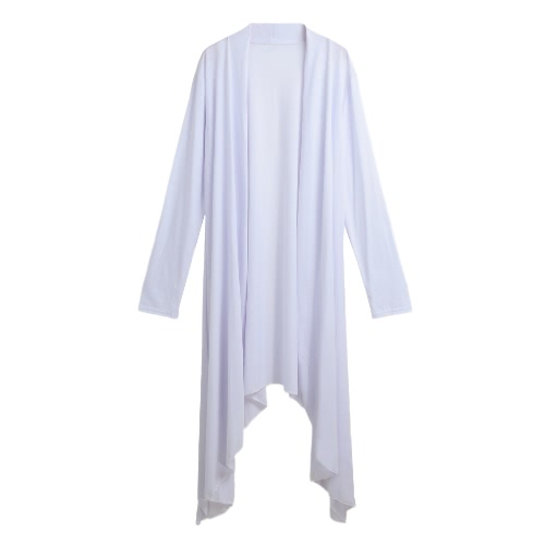 New Women Cardigan Plus Size Coat  Solid Long Sleeve Asymmetry Hem Poncho Shawl Thin CoatApparel &amp; Jewelry<br>New Women Cardigan Plus Size Coat  Solid Long Sleeve Asymmetry Hem Poncho Shawl Thin Coat<br>
