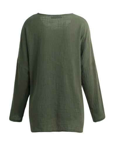 New Korean Women Loose Cotton Casual Long Sleeve Ethnic Vintage Solid T-Shirt Top Tunic DressApparel &amp; Jewelry<br>New Korean Women Loose Cotton Casual Long Sleeve Ethnic Vintage Solid T-Shirt Top Tunic Dress<br>