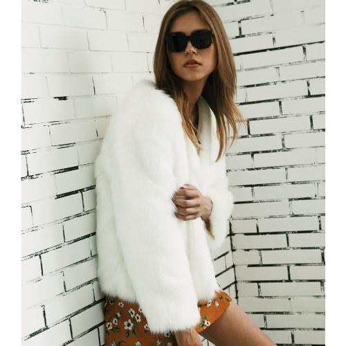 Women Winter Fur Coat Long Sleeve Faux Fur Outerwear Ladies Short Style Jacket Fluffy Warm OvercoatApparel &amp; Jewelry<br>Women Winter Fur Coat Long Sleeve Faux Fur Outerwear Ladies Short Style Jacket Fluffy Warm Overcoat<br>