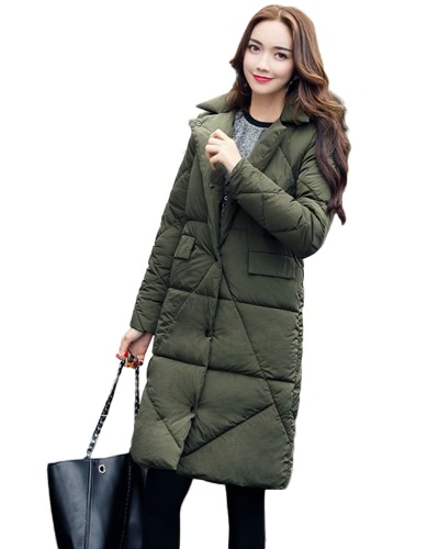 Women Down Padded Jacket Pockets H-Line Winter Warm Coat Solid Long Parka Overcoat OutwearApparel &amp; Jewelry<br>Women Down Padded Jacket Pockets H-Line Winter Warm Coat Solid Long Parka Overcoat Outwear<br>