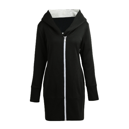 New Autumn Winter Women Hoodies Coat Warm Fleece Coat Zip Up Outerwear Hooded Sweatshirts Casual Long Jacket Plus SizeApparel &amp; Jewelry<br>New Autumn Winter Women Hoodies Coat Warm Fleece Coat Zip Up Outerwear Hooded Sweatshirts Casual Long Jacket Plus Size<br>