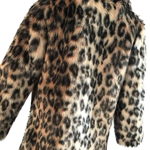 New Fashion Women Faux Fur Leopard Coat Long Sleeve Turn-Down Collar Trench Coat Warm Outwear BrownApparel &amp; Jewelry<br>New Fashion Women Faux Fur Leopard Coat Long Sleeve Turn-Down Collar Trench Coat Warm Outwear Brown<br>