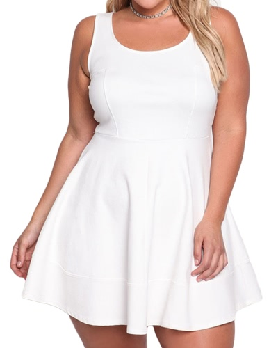 Women Plus Size Dress Big Large Size Sleeveless Solid Summer Casual Party Slim DressApparel &amp; Jewelry<br>Women Plus Size Dress Big Large Size Sleeveless Solid Summer Casual Party Slim Dress<br>
