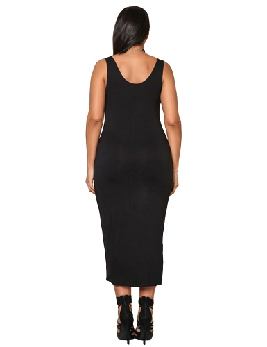 Sexy Women Plus Size Sleeveless Dress Deep V Neck Asymmetric Ruched Solid Slim Bodycon Large Size Dress Black/Blue/GreyApparel &amp; Jewelry<br>Sexy Women Plus Size Sleeveless Dress Deep V Neck Asymmetric Ruched Solid Slim Bodycon Large Size Dress Black/Blue/Grey<br>
