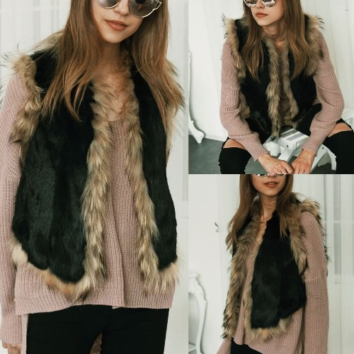 New Winter Women Faux Fur Vest Waistcoat Fluffy Sleeveless Elegant Outerwear Hairy Overcoat Jacket BlackApparel &amp; Jewelry<br>New Winter Women Faux Fur Vest Waistcoat Fluffy Sleeveless Elegant Outerwear Hairy Overcoat Jacket Black<br>