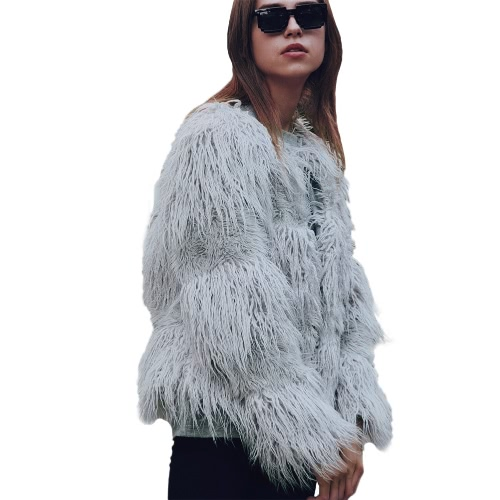 Fashion Women Autumn Winter Faux Fur Coat Open Front Ladies Long Sleeve Outerwear JacketApparel &amp; Jewelry<br>Fashion Women Autumn Winter Faux Fur Coat Open Front Ladies Long Sleeve Outerwear Jacket<br>