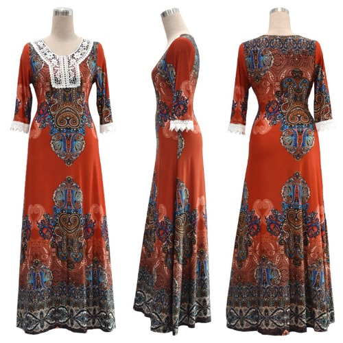 Bohemian Women Plus Size DressApparel &amp; Jewelry<br>Bohemian Women Plus Size Dress<br>