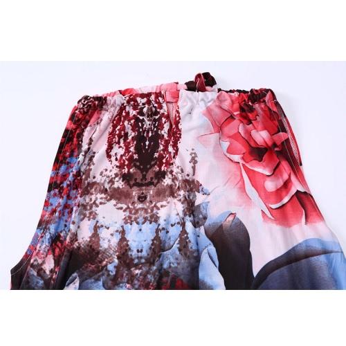 New Fashion Women Boho Floral Print Maxi Dress Halter Neck Sleeveless Summer Plus Size Swing Dress RedApparel &amp; Jewelry<br>New Fashion Women Boho Floral Print Maxi Dress Halter Neck Sleeveless Summer Plus Size Swing Dress Red<br>