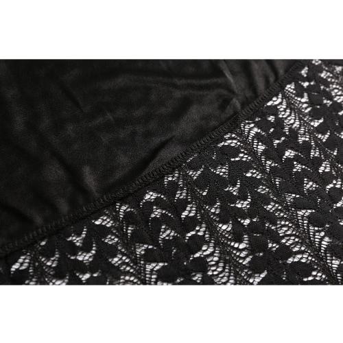 Women Plus Size Lace Dress Irregular Square Neck 3/4 Sleeve Elegant A-Line Party Midi Dress BlackApparel &amp; Jewelry<br>Women Plus Size Lace Dress Irregular Square Neck 3/4 Sleeve Elegant A-Line Party Midi Dress Black<br>