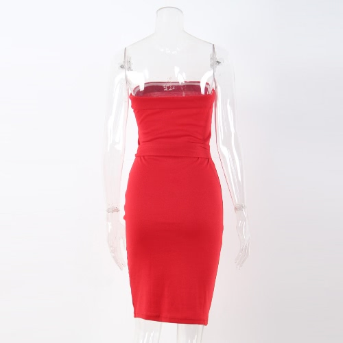 Women Sexy Cocktail Bodycon Casual Clubwear Knee Length Party Dress Strapless Backless DressApparel &amp; Jewelry<br>Women Sexy Cocktail Bodycon Casual Clubwear Knee Length Party Dress Strapless Backless Dress<br>