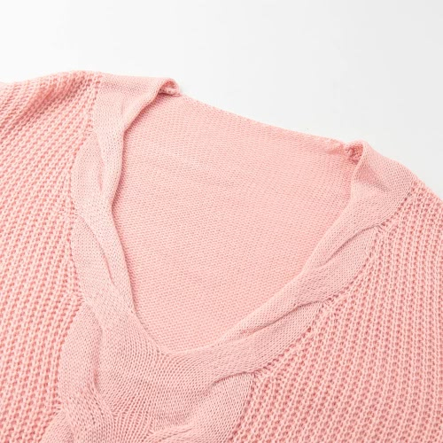 New Women Twist Knitted Sweater Solid Sexy V Neck Long Sleeve Loose Warm Jumper Pullover KnitwearApparel &amp; Jewelry<br>New Women Twist Knitted Sweater Solid Sexy V Neck Long Sleeve Loose Warm Jumper Pullover Knitwear<br>
