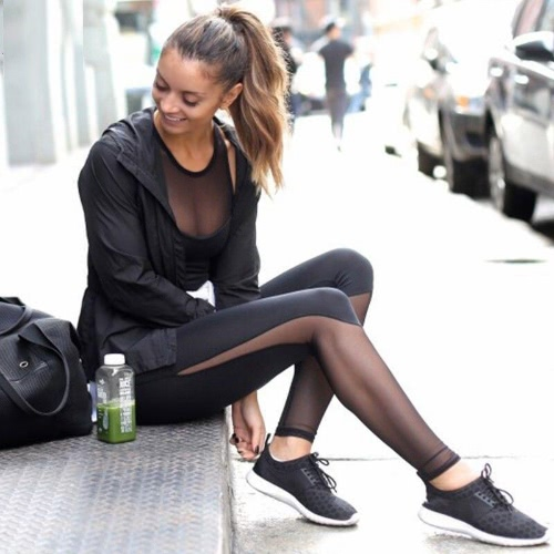 Fashion Women Yoga Pants Workout Transparent Mesh Leggings Skinny Running Tights Fitness Trousers Hose BlackApparel &amp; Jewelry<br>Fashion Women Yoga Pants Workout Transparent Mesh Leggings Skinny Running Tights Fitness Trousers Hose Black<br>