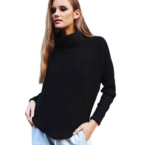 Fashion Winter Women Sweater Knitwear Turtle Neck Long Sleeves Ribbed Knitted Pullover TopsApparel &amp; Jewelry<br>Fashion Winter Women Sweater Knitwear Turtle Neck Long Sleeves Ribbed Knitted Pullover Tops<br>