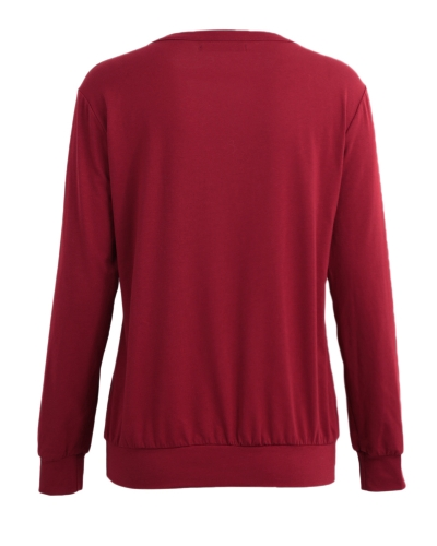 New Fashion Women Blouse Tops Lace Up Bandage Long Sleeve V Neck Shirts Casual Solid Pullover Black/Burgundy/GreyApparel &amp; Jewelry<br>New Fashion Women Blouse Tops Lace Up Bandage Long Sleeve V Neck Shirts Casual Solid Pullover Black/Burgundy/Grey<br>