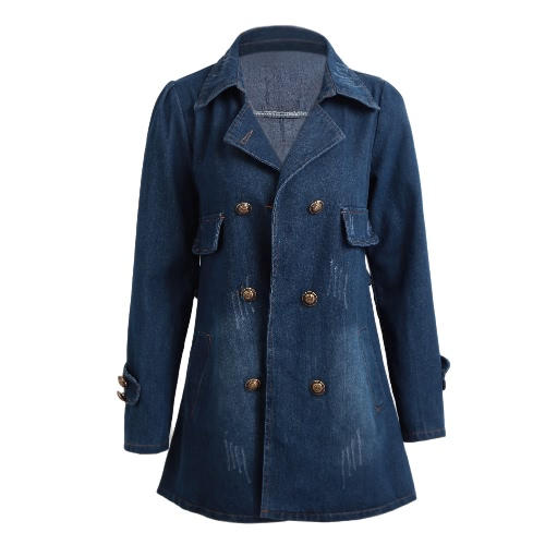 Autumn Women Denim Jacket Vintage Long Sleeves Slim Jeans Jacket Coat Casual Outerwear BlueApparel &amp; Jewelry<br>Autumn Women Denim Jacket Vintage Long Sleeves Slim Jeans Jacket Coat Casual Outerwear Blue<br>