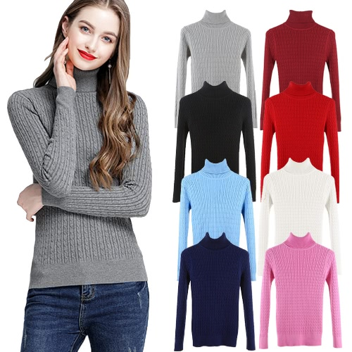 New Women Twist Knitted Sweater Solid Turtleneck Long Sleeve Slim Thickening Pullover Jumper Knitwear TopApparel &amp; Jewelry<br>New Women Twist Knitted Sweater Solid Turtleneck Long Sleeve Slim Thickening Pullover Jumper Knitwear Top<br>