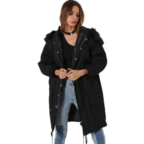 Women Winter Coat Jacket Warm Overcoat Hooded Long Sleeve Down Jacket Outwear Black/Dark Green/WhiteApparel &amp; Jewelry<br>Women Winter Coat Jacket Warm Overcoat Hooded Long Sleeve Down Jacket Outwear Black/Dark Green/White<br>