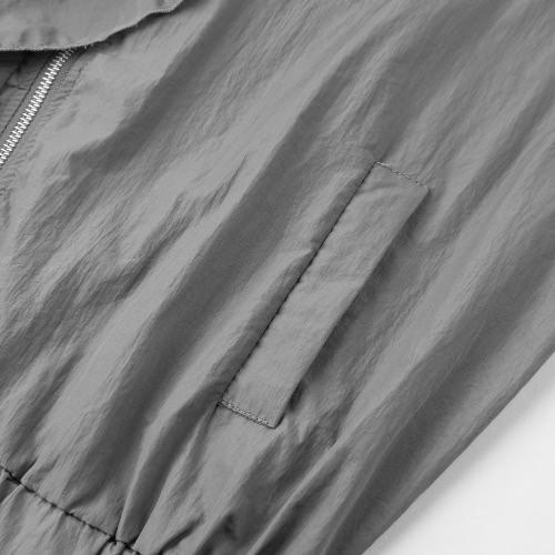Autumn Ruffles Women Jacket Zipper Long Sleeves Coat Pockets Outerwear Top Black/Pink/GreyApparel &amp; Jewelry<br>Autumn Ruffles Women Jacket Zipper Long Sleeves Coat Pockets Outerwear Top Black/Pink/Grey<br>
