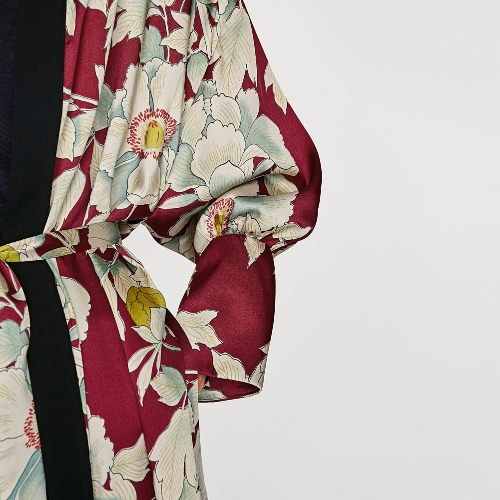 Women Floral Print Kimono Cardigan Sash Loose Blouse Top Long Sleeve Split Boho Beach Robe Cover UpApparel &amp; Jewelry<br>Women Floral Print Kimono Cardigan Sash Loose Blouse Top Long Sleeve Split Boho Beach Robe Cover Up<br>