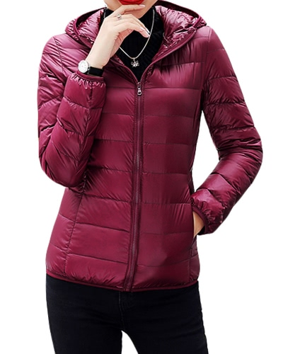 New Winter Autumn Women Duck Down Hooded Jacket Zipper Long Sleeves Slim Light Down CoatApparel &amp; Jewelry<br>New Winter Autumn Women Duck Down Hooded Jacket Zipper Long Sleeves Slim Light Down Coat<br>