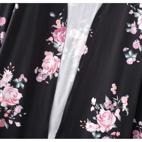 New Fashion Women Long Cardigan Kimono Open Front Floral Print Long Sleeves Casual OuterwearApparel &amp; Jewelry<br>New Fashion Women Long Cardigan Kimono Open Front Floral Print Long Sleeves Casual Outerwear<br>
