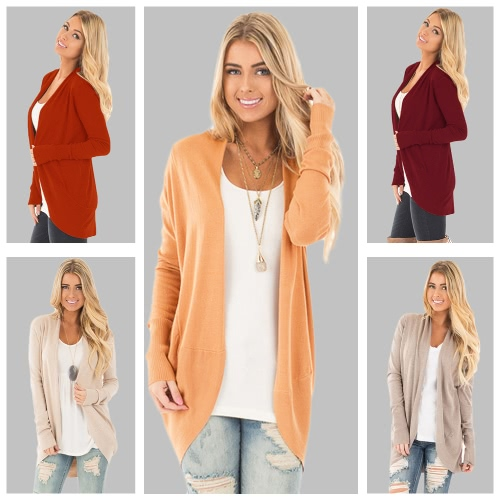 New Casual Winter Women Long Sleeve Knitted Cardigan Open Front Asymmetric Hem Knitting Longline Outerwear CoatApparel &amp; Jewelry<br>New Casual Winter Women Long Sleeve Knitted Cardigan Open Front Asymmetric Hem Knitting Longline Outerwear Coat<br>