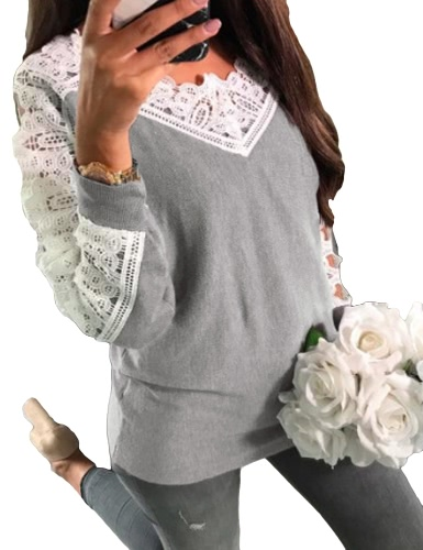 Sexy Women Crochet Lace Blouse Off Shoulder Long Sleeve Casual Hollow Out Autumn T-Shirt TopsApparel &amp; Jewelry<br>Sexy Women Crochet Lace Blouse Off Shoulder Long Sleeve Casual Hollow Out Autumn T-Shirt Tops<br>