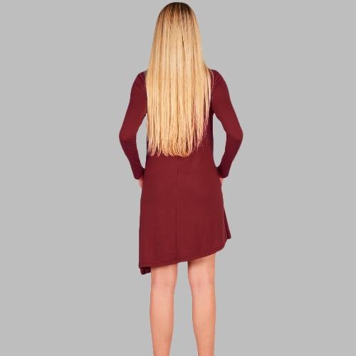 New Fashion Women Asymmetric Mini Dress Side Pockets Round Neck Long Sleeve Party Loose Swing DressApparel &amp; Jewelry<br>New Fashion Women Asymmetric Mini Dress Side Pockets Round Neck Long Sleeve Party Loose Swing Dress<br>
