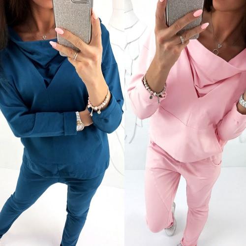 Women Sport Training Yoga Blouse Hooded Pouch Pockets Sweatshirt Sportswear Pullover Top T-Shirt Blue/PinkApparel &amp; Jewelry<br>Women Sport Training Yoga Blouse Hooded Pouch Pockets Sweatshirt Sportswear Pullover Top T-Shirt Blue/Pink<br>