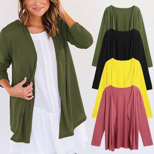 Autumn Women Cardigan Open Front Long Sleeve Solid Slim Outerwear Casual Thin OutwearApparel &amp; Jewelry<br>Autumn Women Cardigan Open Front Long Sleeve Solid Slim Outerwear Casual Thin Outwear<br>