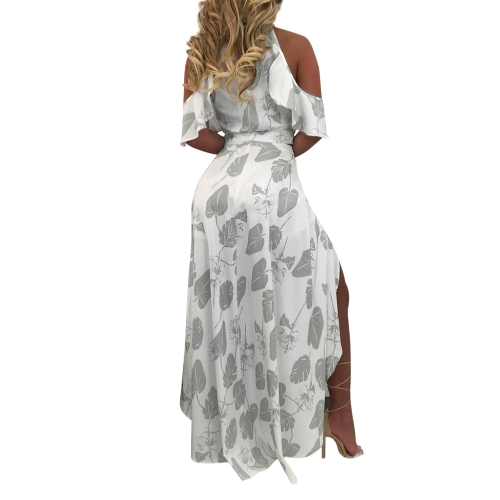 Sexy Women Cold Shoulder V Neck 2 Piece Set Floral Print Short Sleeve Split Maxi Skirt Ruffles Top + Shorts ClubwearApparel &amp; Jewelry<br>Sexy Women Cold Shoulder V Neck 2 Piece Set Floral Print Short Sleeve Split Maxi Skirt Ruffles Top + Shorts Clubwear<br>